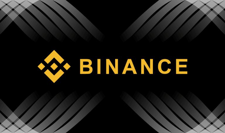 tło binance logo