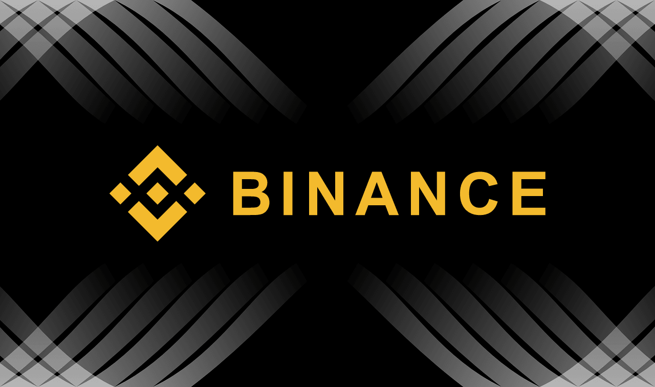 tło binance logo