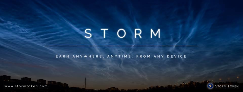 storm tło