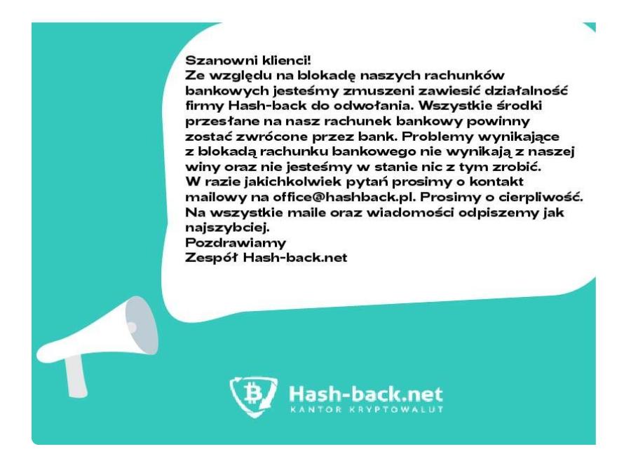 zawieszenie hash-back