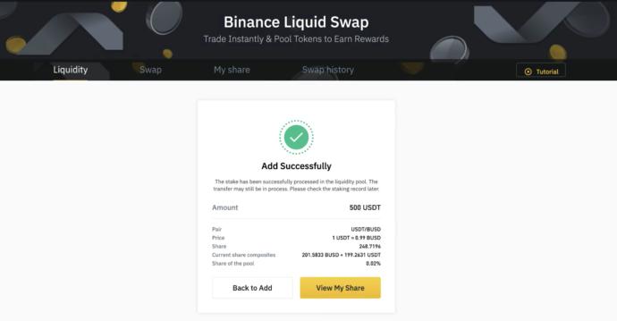 Liquid Swap binance