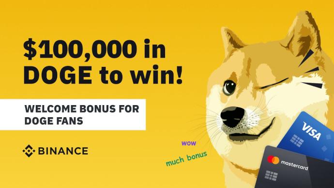Binance rozdaje DOGE o wartości 100 000 $