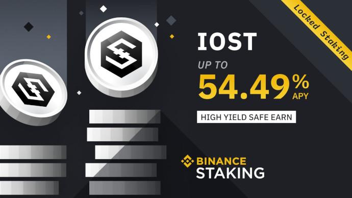 Binance Staking wprowadza IOST Staking ze zwrotem do 54,49% RRSO