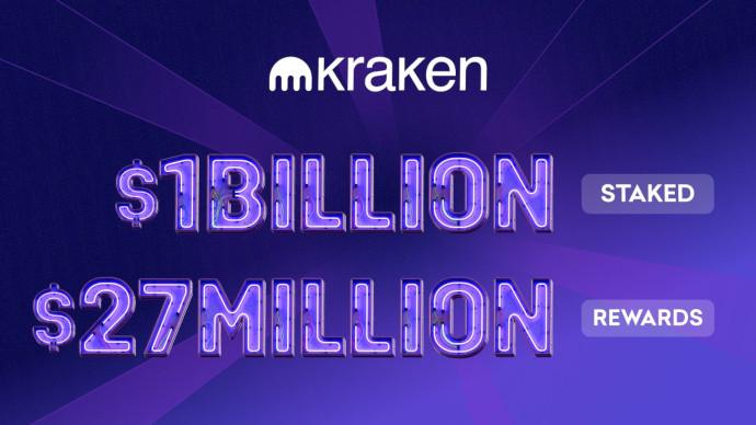 Staking na giełdzie Kraken przekroczył 1 mld $