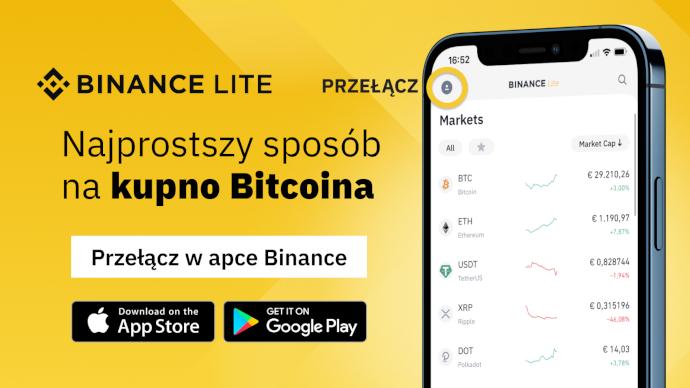 Binance Lite - najłatwiejszy sposób na kupienie Bitcoina