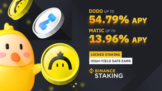 Binance uruchamia Staking DODO oraz MATIC do 54,79% RRSO