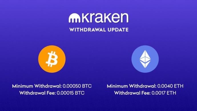 Kraken zmniejsza limity wypłat i opłaty na Bitcoinie i Ethereum