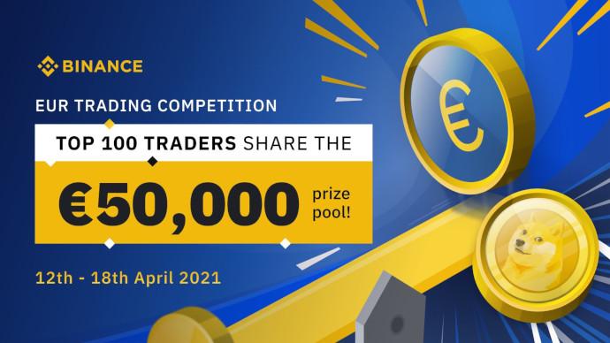 Konkurs w handlu EUR na Binance - do wygrania 50 000 EUR